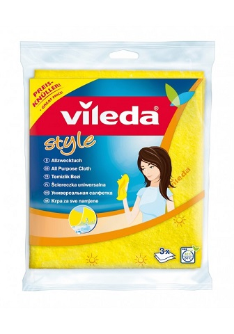 VILEDA STYLE PANNO GIALLO 3 PZ  -  ean: 4023103145955