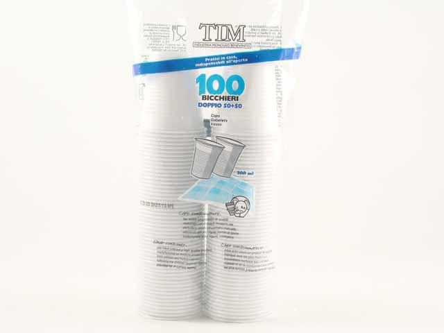 TIM BICCHIERI 200CC BIANCO X 100  -  ean: 8019210711967