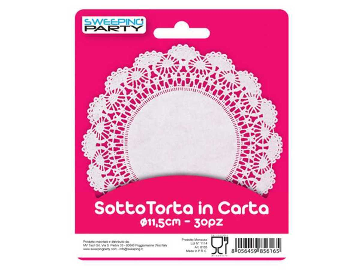 SWEEPING PARTY SOTTOTORTA MERLETTO ROT.11,5CMX30PZ  -  ean: 8056459856165