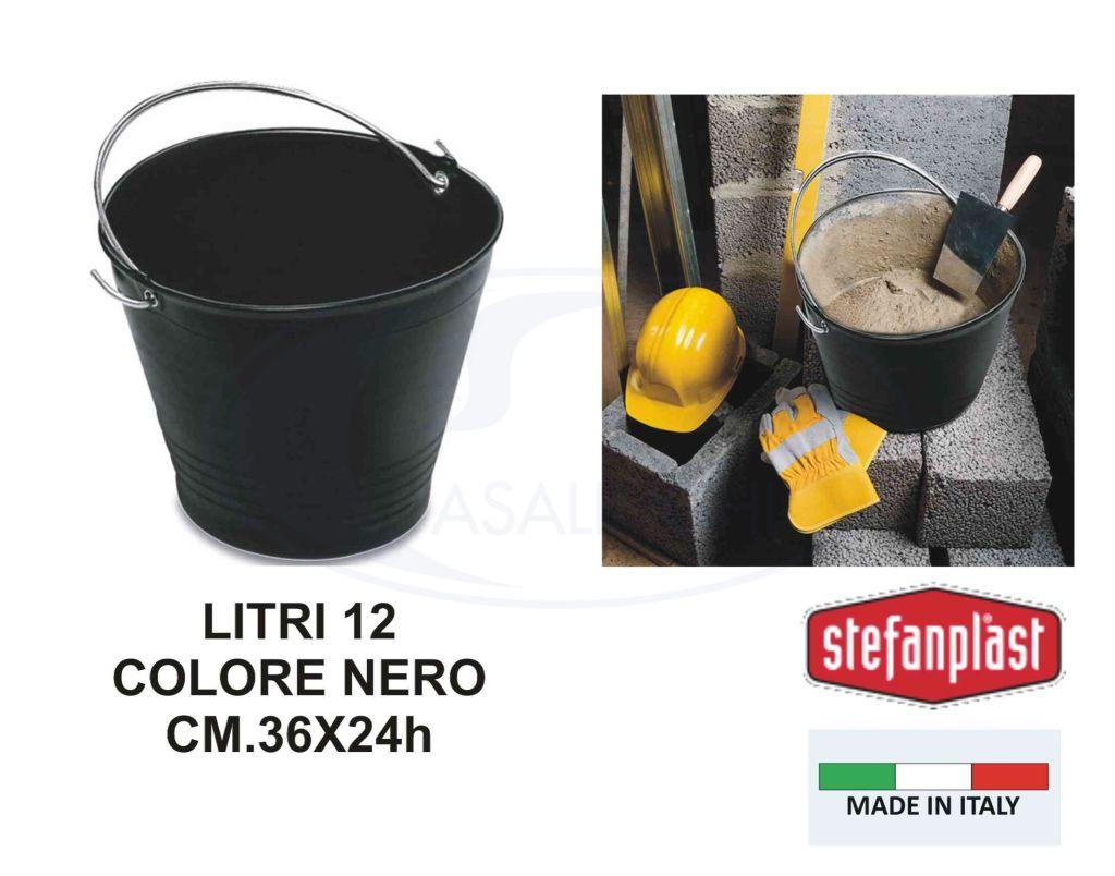 STEFANPLAST SECCHIELLO MURATORE NERO  -  ean: 8003507150201