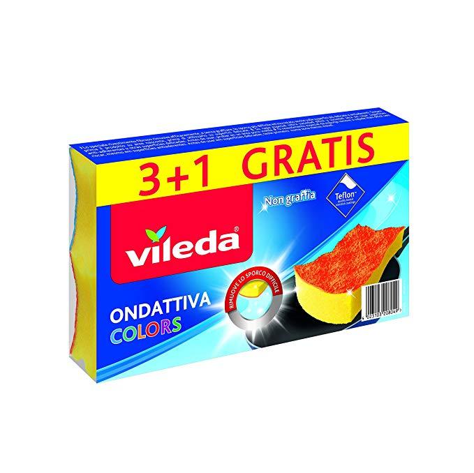 VILEDA SPUGNA ONDATTIVA COLORS 3+1  -  ean: 4023103208049