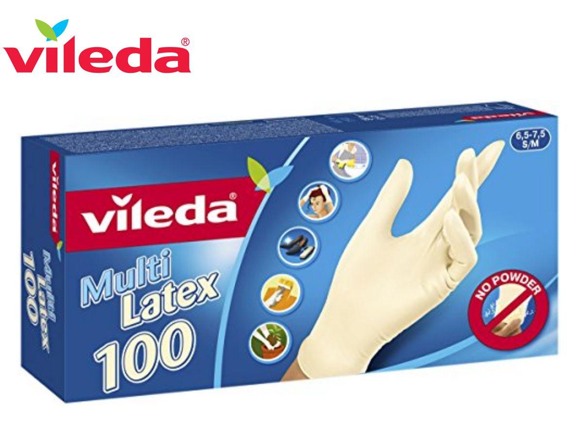 VILEDA GUANTI MULTI LATEX 100PZ S/M  -  ean: 4023103124844